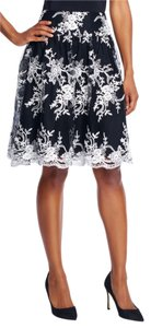 Adrianna Papell Floral Skirt Black & Ivory