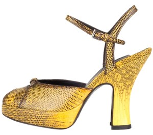 Prada Yellow & Brown Sandals