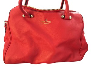 Kate Spade Leather Purse Satchel in Red