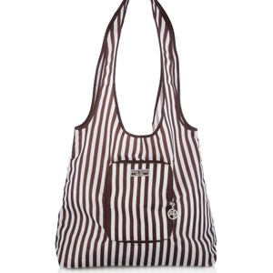 Henri Bendel Packable Tote in Brown / White