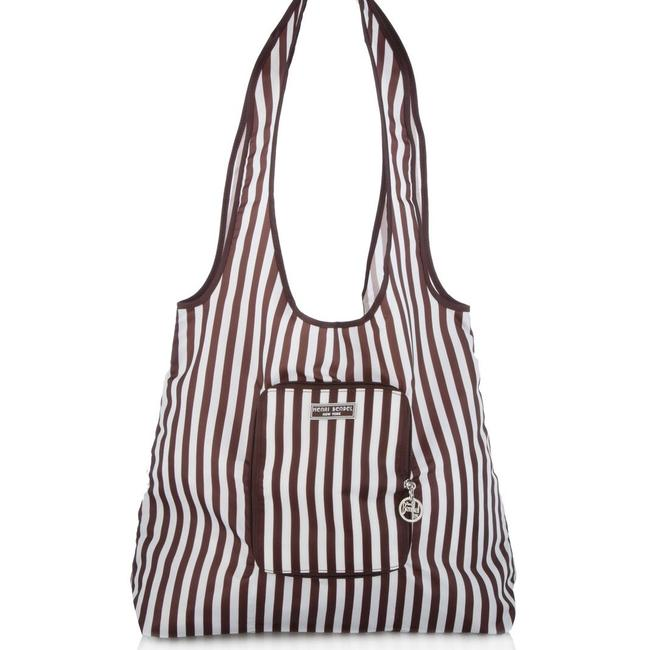 Item - Packable Brown / White Nylon Tote
