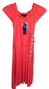 Marc by Marc Jacobs Medium Cap Sleeves Knee Lenght New With Tags Button Detail Flamingo Dress