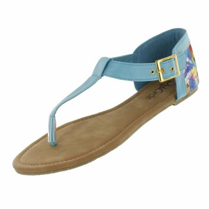 Red Circle Footwear Turquoise Sandals