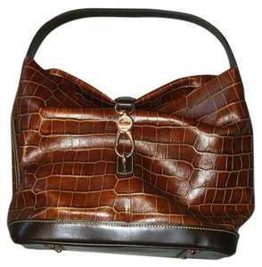 Dooney & Bourke Croc Embossed Leather Hobo Bag