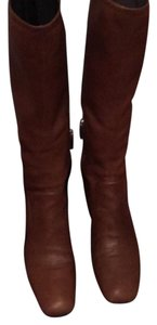 Prada cognac brown Boots