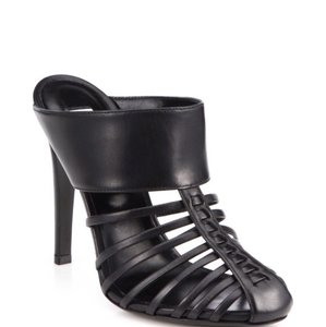 Altuzarra Capello Leather Sandal Black Mules