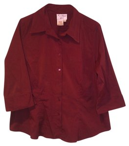 Fred David Button Down Shirt Red