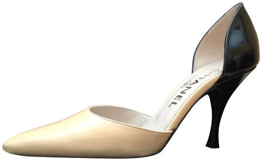 Preload https://item3.tradesy.com/images/chanel-beige-and-black-pumps-size-us-55-204477-0-0.jpg?width=440&height=440