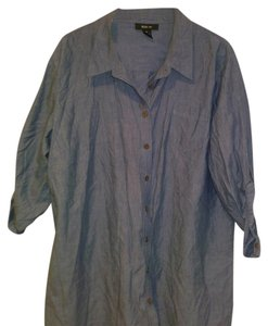 Style & Co Button Down Shirt Blue