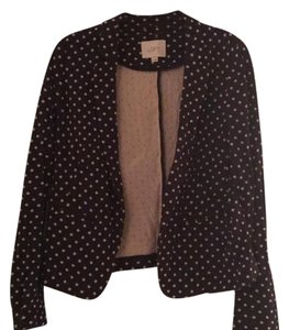 Ann Taylor LOFT black with cream dots Jacket