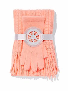 New York & Company 2-PIECE CABLE-KNIT SCARF & GLOVES SET