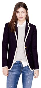 J.Crew Wool Equestrian Riding Preppy Navy Blue White Blazer