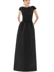 Alfred Sung Black Polyester D569 Retro Bridesmaid/Mob Dress Size 00 (XXS)