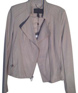 BCBGMAXAZRIA Putty Leather Jacket