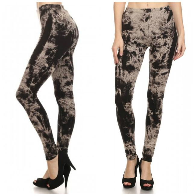 Item - Black Beige Tie Dye Xlarge Leggings Size 16 (XL, Plus 0x)