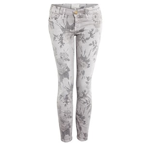 Current/Elliott Skinny Floral Skinny Jeans-Light Wash