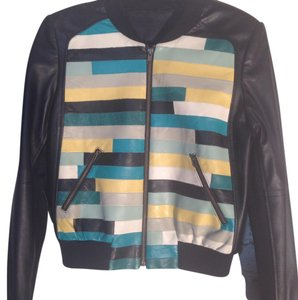 BCBG Paris Multi Leather Jacket