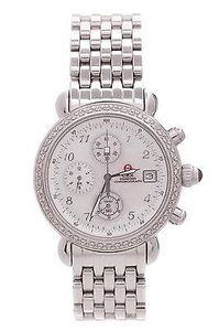 Michele Michele Stainless Steel Csx Diamond Chronograph Womens Watch