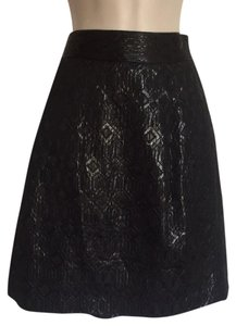 Tory Burch Embossed Mini Skirt Black