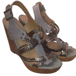 Steve Madden Grey, Brown, Bronze Wedges