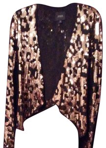 Guess Sexy black and gold night out on the town blazer jacket. Be the life of the party!! Blazer