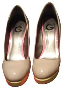 Guess Nude/soft pink/soft yellow Platforms