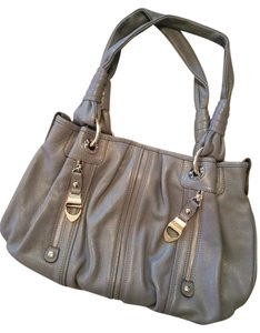 B. Makowsky Leather Large Tote in dusty blue