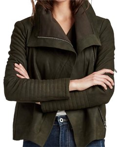 Lucky Brand Olive Leather Jacket