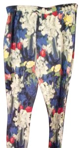 Kate Spade Straight Pants Blue, white, red, yellow and pink