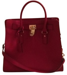 Michael Kors Hamilton large satchel Satchel in red