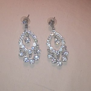 Bridal Rhinestone Chandelier Earrings