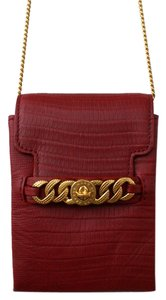 Marc by Marc Jacobs Iphone Case Phone Chain Embossed Leather Cross Body Bag