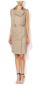 Escada short dress Beige Wool Trench Luxury Trench on Tradesy