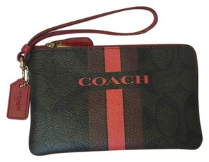 Coach Wristlet in Brown Red