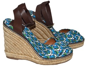 Tory Burch Blue / Green / Brown Wedges