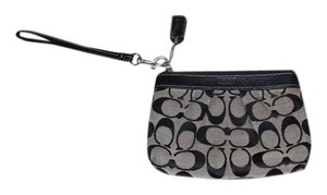 Coach Vintage Monogram Wristlet in Black and Gray