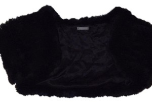 Ann Taylor Black Rabbit Fur Shrug