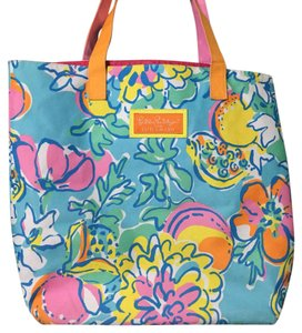 Lilly Pulitzer Tote in Blue/pink/mutilple