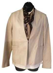 Cole Haan beige Leather Jacket