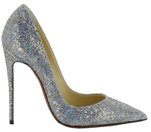 Christian Louboutin Disco Ball Silver Glitter Pumps