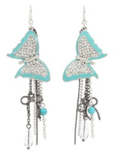 Guess Butterfly drop earrings