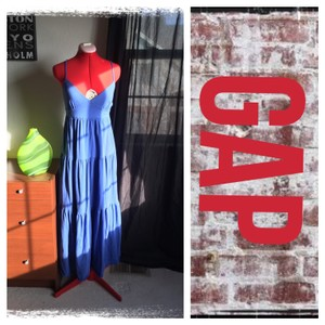 periwinkle Maxi Dress by Gap full skirt maxi dress