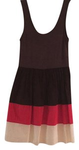 Maeve short dress Brown, salmon, and white on Tradesy