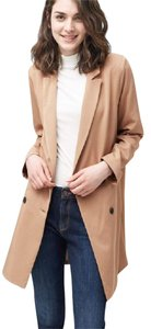 Mango Oversized Camel Double-breasted On Trend medium brown Blazer