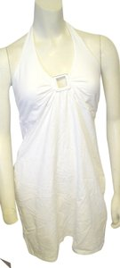 Victoria's Secret short dress White Halter Silvertone Keyhole on Tradesy