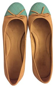 Aerosoles Leather Suede Tan Flats