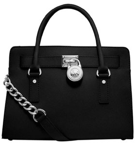 Michael Kors Hamilton Satchel in Black