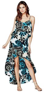 Blue Floral Maxi Dress by Marciano Maxi Romantic Date Night