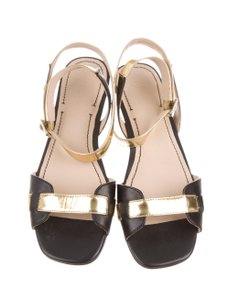 Elizabeth and James Gold Black/Gold Sandals