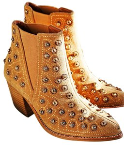 Jeffrey Campbell Suede Studded Diamond Beige Beige Suede Boots